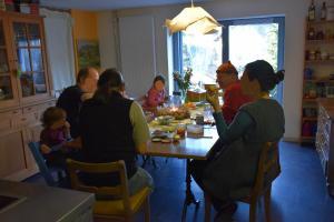 Zmorgen am Neujahr mit Besuchern